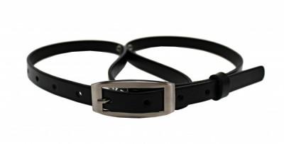 Penny Belts Dámský kožený opasek 15-2 černý 95